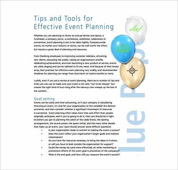 Event Planning Template Pdf Awesome event Planning Template 9 Free Word Pdf Documents