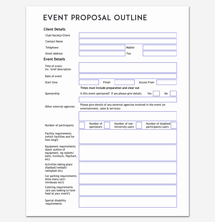 Event Planning Template Pdf Fresh event Outline Template 9 Samples & Examples for Pdf format
