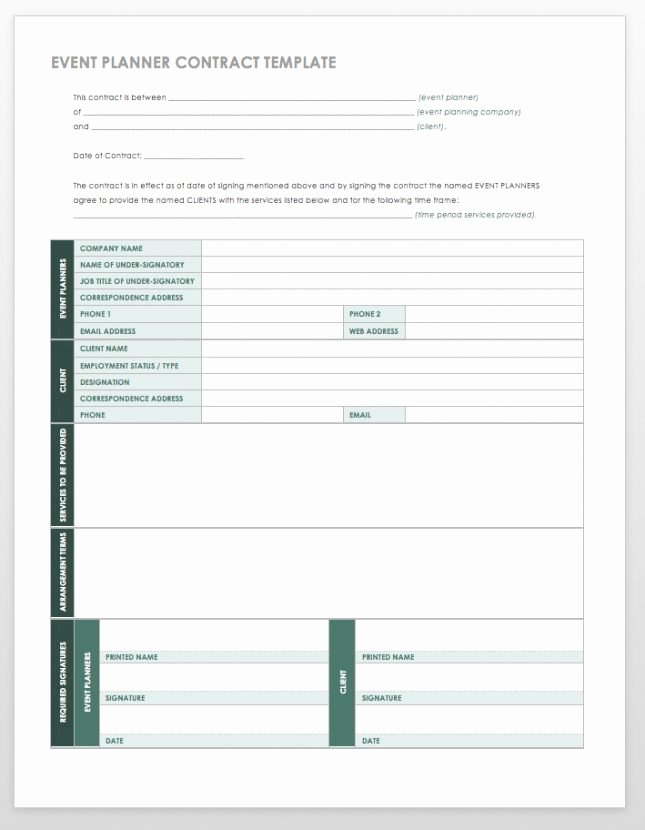 Event Planning Template Pdf Fresh event Planning form
