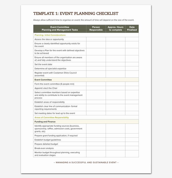 Event Planning Template Pdf Lovely event to Do List Template 40 Checklists In Word Excel