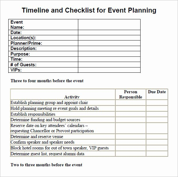 Event Planning Timeline Template Best Of 13 Sample event Planning Checklist Templates