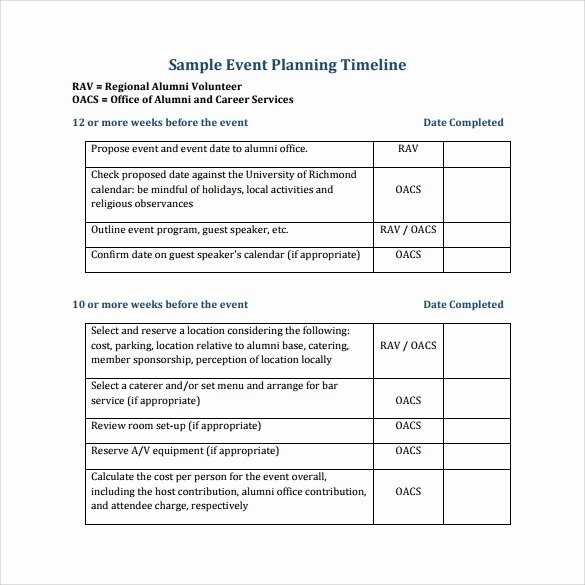 Event Planning Timeline Template Elegant event Planning Template 9 Free Samples Examples format