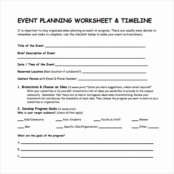Event Planning Timeline Template Fresh 9 event Timeline Templates – Samples Examples formats