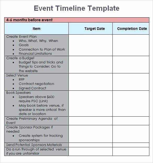 Event Planning Timeline Template Fresh Timeline event Planning Template Free – Freewarearenafo