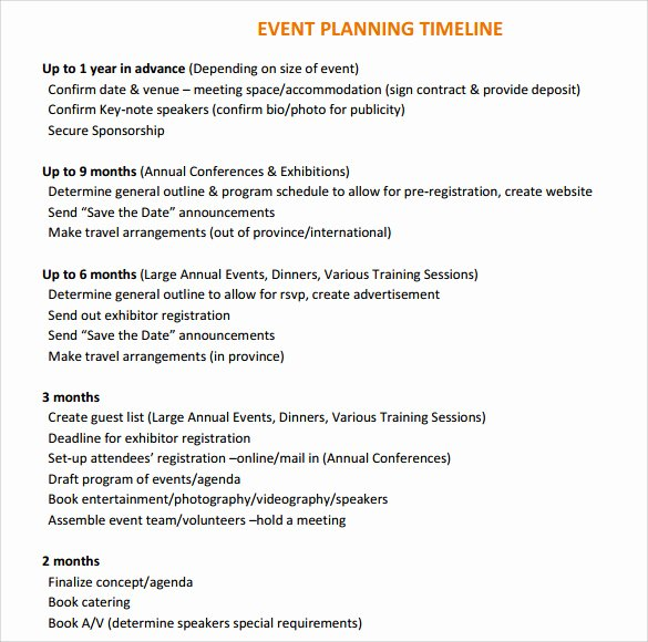 Event Planning Timeline Template Lovely 10 event Timeline Templates for Free Download