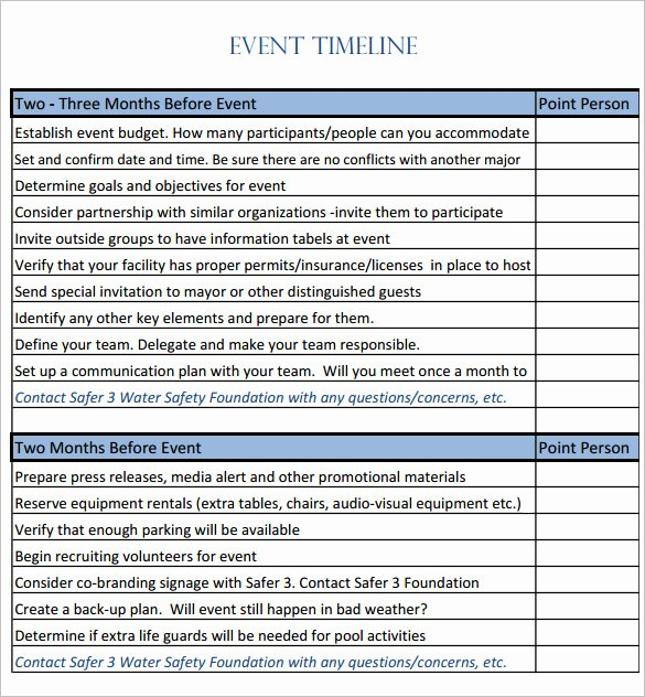 Event Planning Timeline Template Luxury 8 event Timeline Templates Free Sample Example format