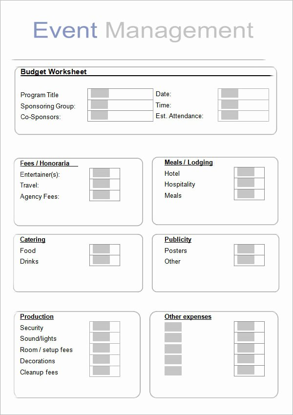 Event Planning Worksheet Template Awesome 10 Sample event Planning Templates – Pdf Ppt Doc