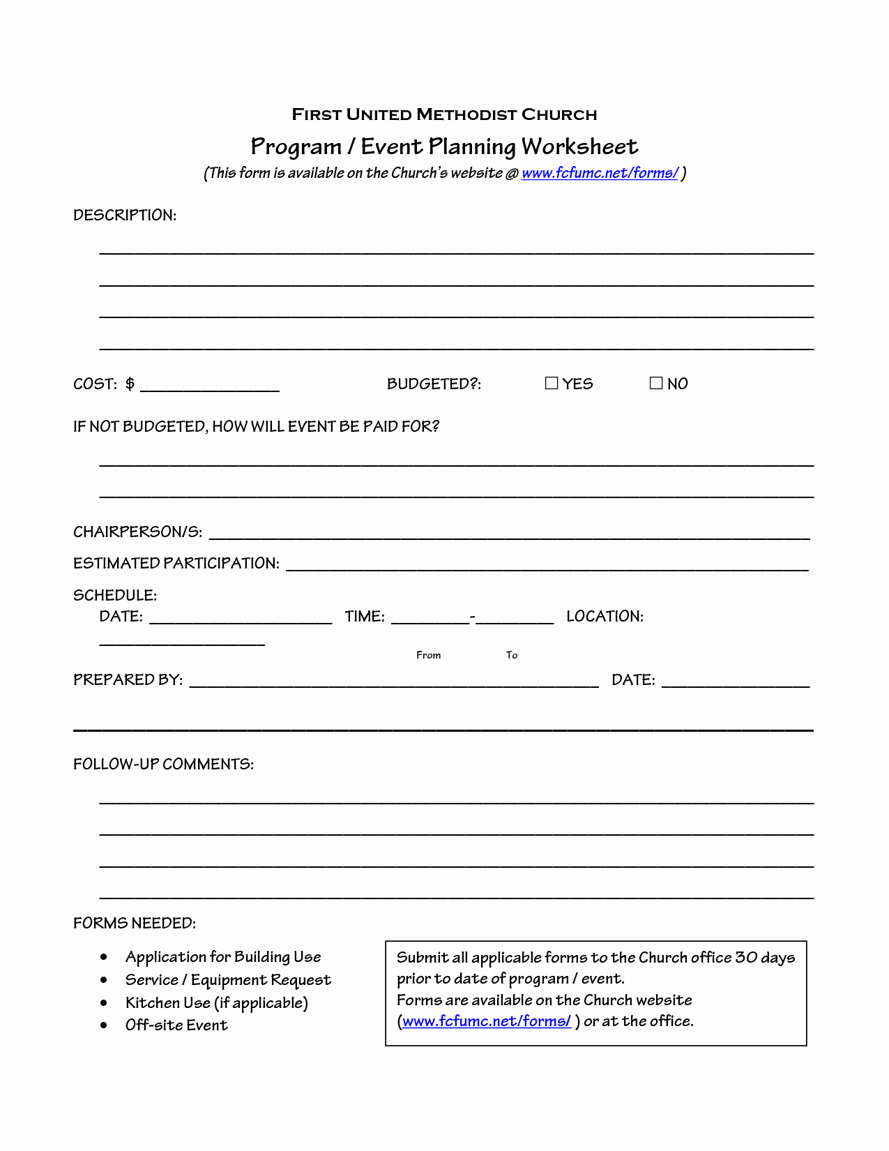 Event Planning Worksheet Template Beautiful Church event Planning Worksheet organize It