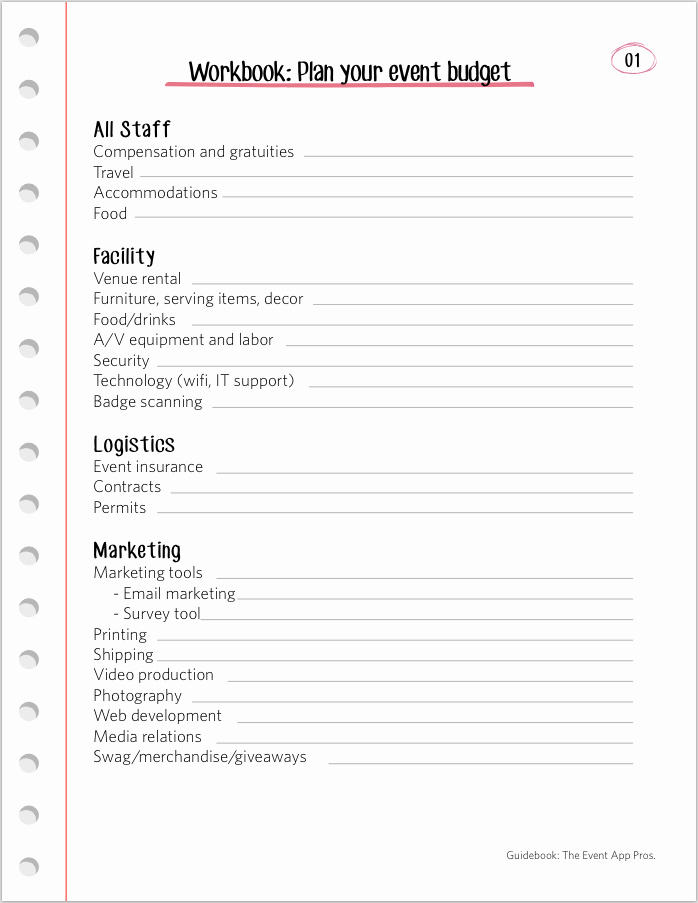 Event Planning Worksheet Template Elegant We Found All the Best event Bud Templates