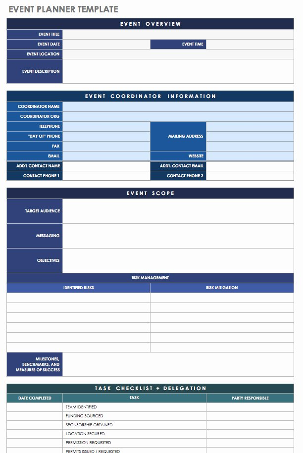 Event Planning Worksheet Template Fresh 21 Free event Planning Templates