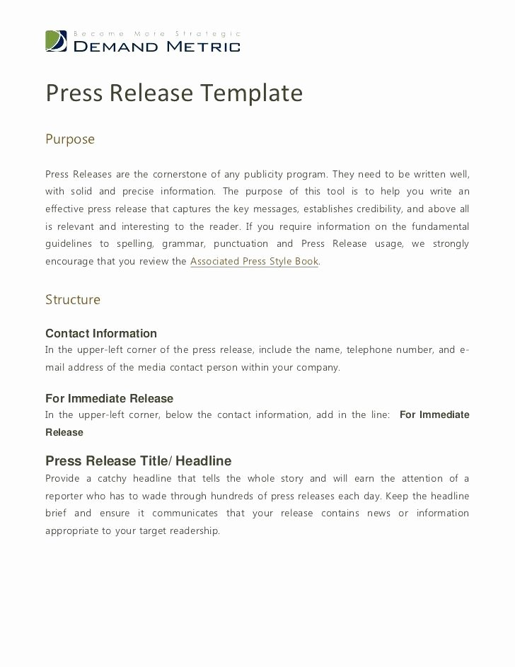 Event Press Release Template Awesome A Catchy Title Tailored to Your Business Grand Opening