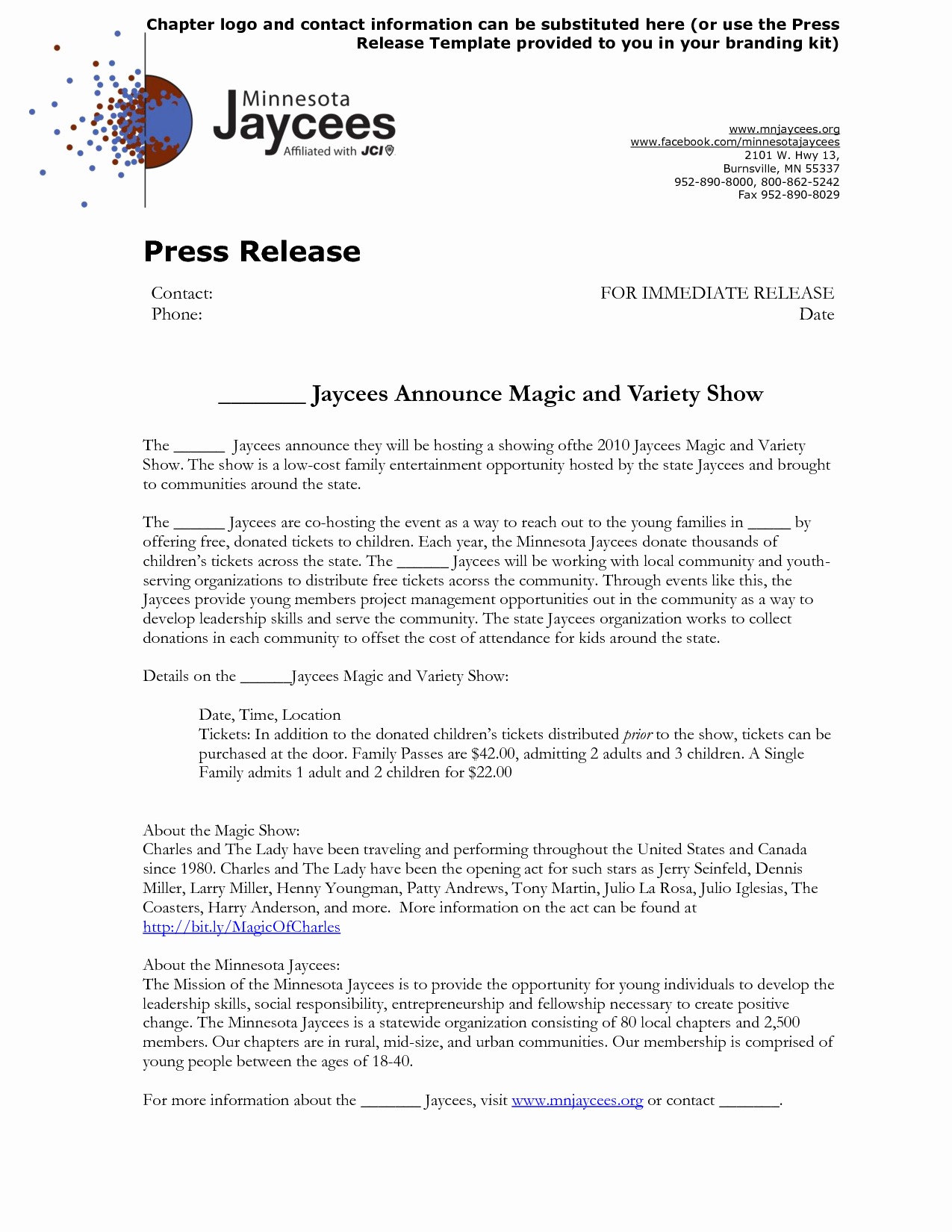 Event Press Release Template Fresh 5 Best Of Sample event Press Release Template