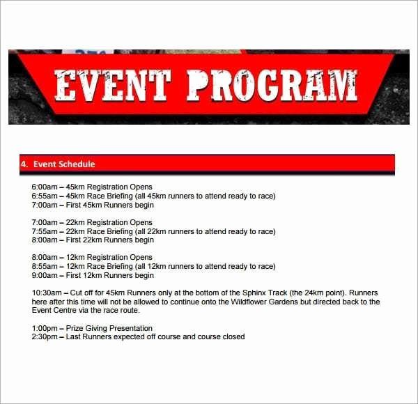 Event Program Template Word Best Of 10 event Program Templates Word Excel Pdf formats