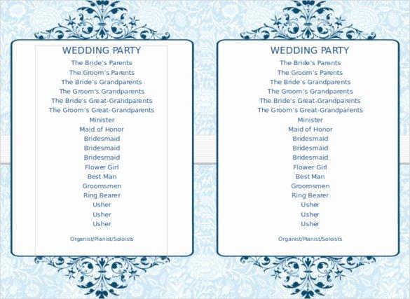 Event Program Template Word Elegant 8 Word Wedding Program Templates Free Download