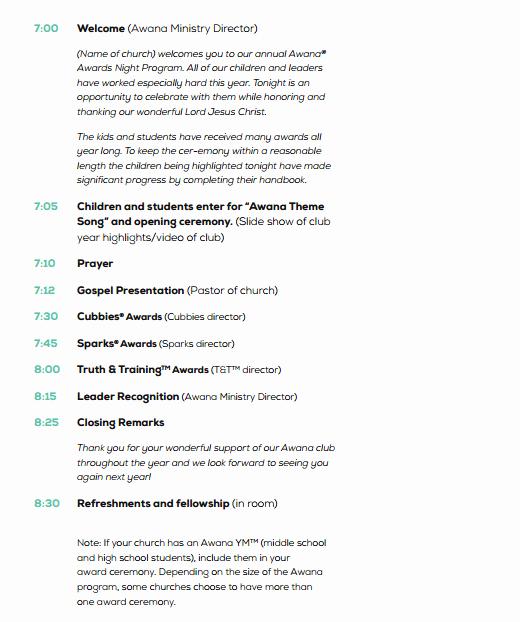Event Program Template Word Fresh 4 Awards event Program Templates Free Sample Templates
