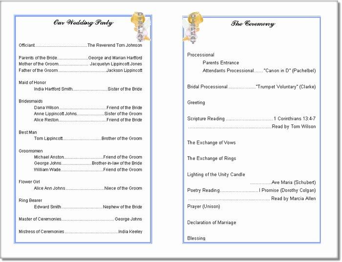 Event Program Template Word Luxury Church Program Template
