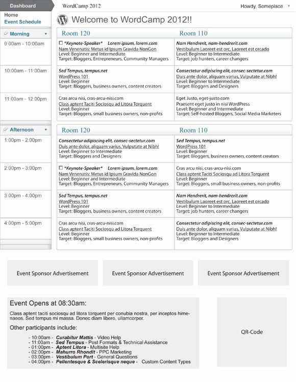 Event Program Template Word Luxury event Program Template