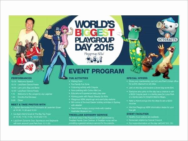 Event Program Template Word New 10 event Program Templates Word Excel Pdf formats
