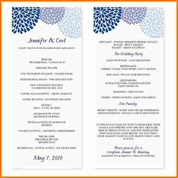 Event Program Template Word Unique Wedding Program Template Microsoft Word