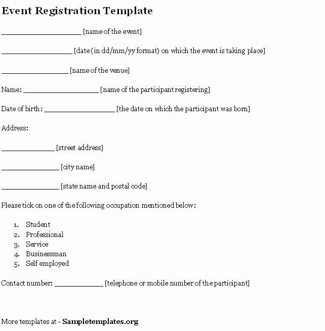 Event Registration form Template Word Fresh event Template for Registration Example Of event