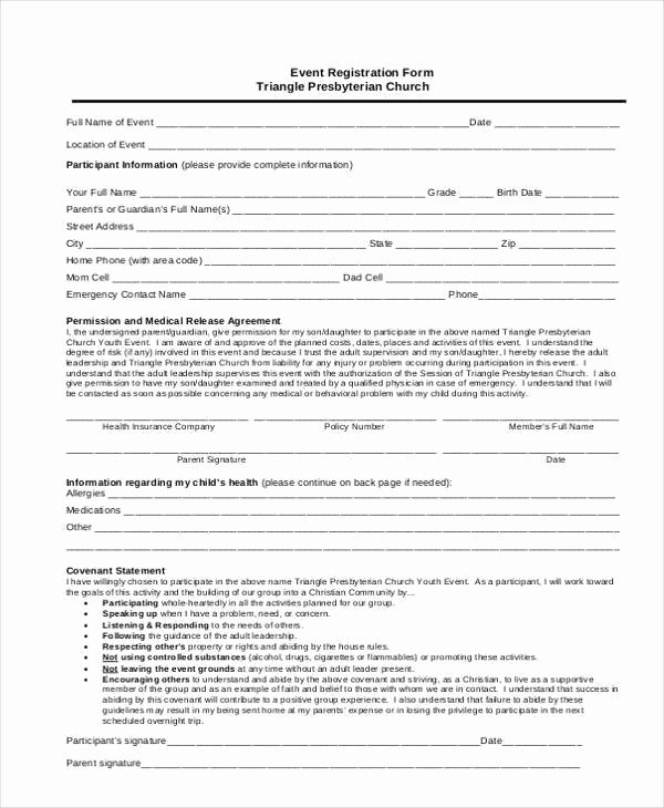 Event Registration form Template Word Fresh Registration form Templates