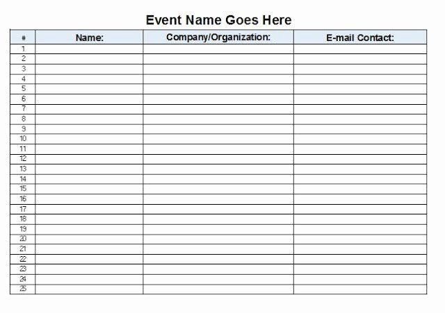 Event Sign In Sheet Template Awesome event Sign In Sheet Template Free Download Aashe