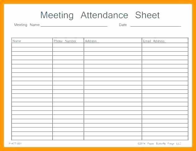 Event Sign In Sheet Template Elegant attendance Template Excel Printable Sheet Work Meeting