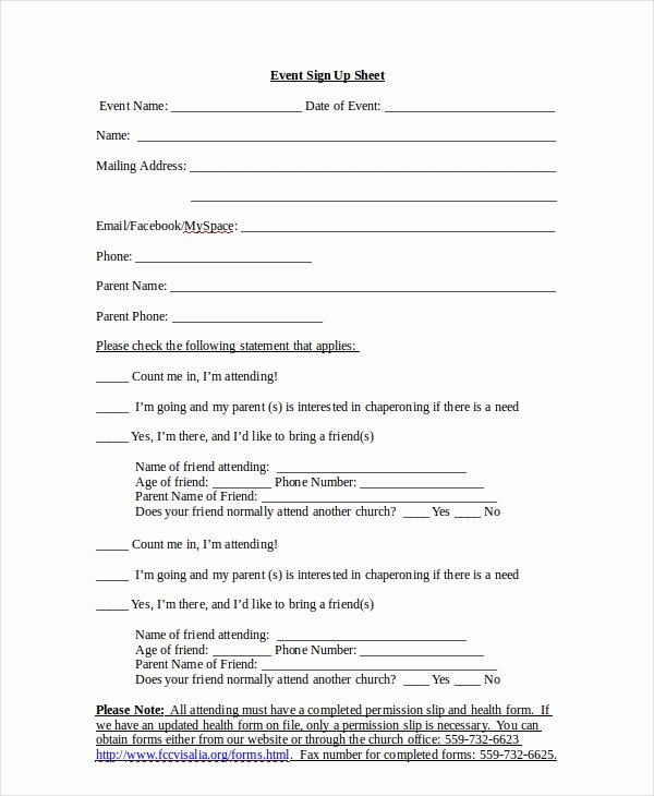 Event Sign In Sheet Template Fresh Sign Up Sheet 16 Free Pdf Word Documents Download