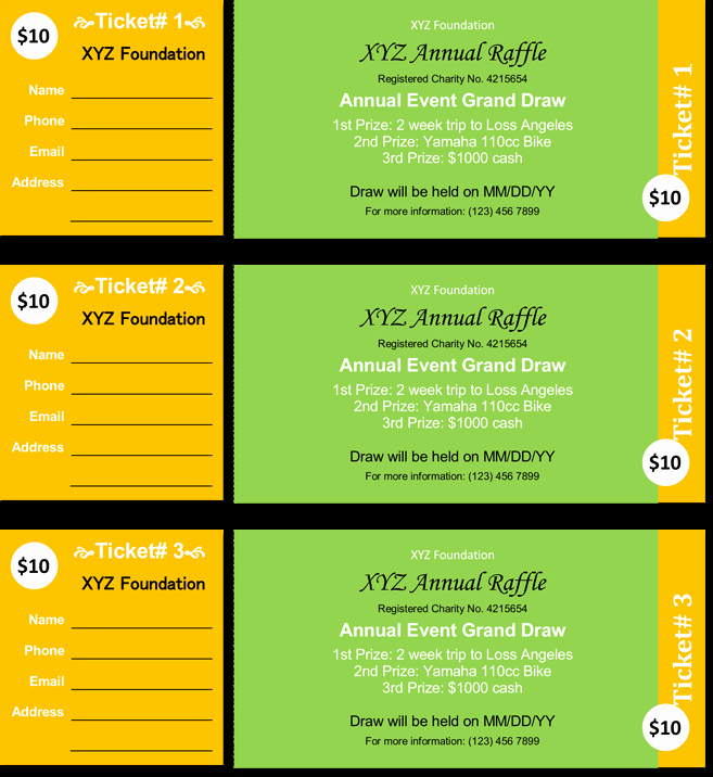 Event Ticket Template Word Elegant 20 Free Raffle Ticket Templates with Automate Ticket