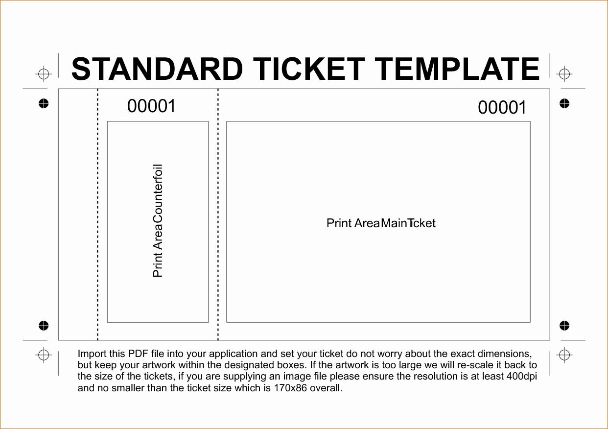 Event Ticket Template Word Elegant Ticket Template Word