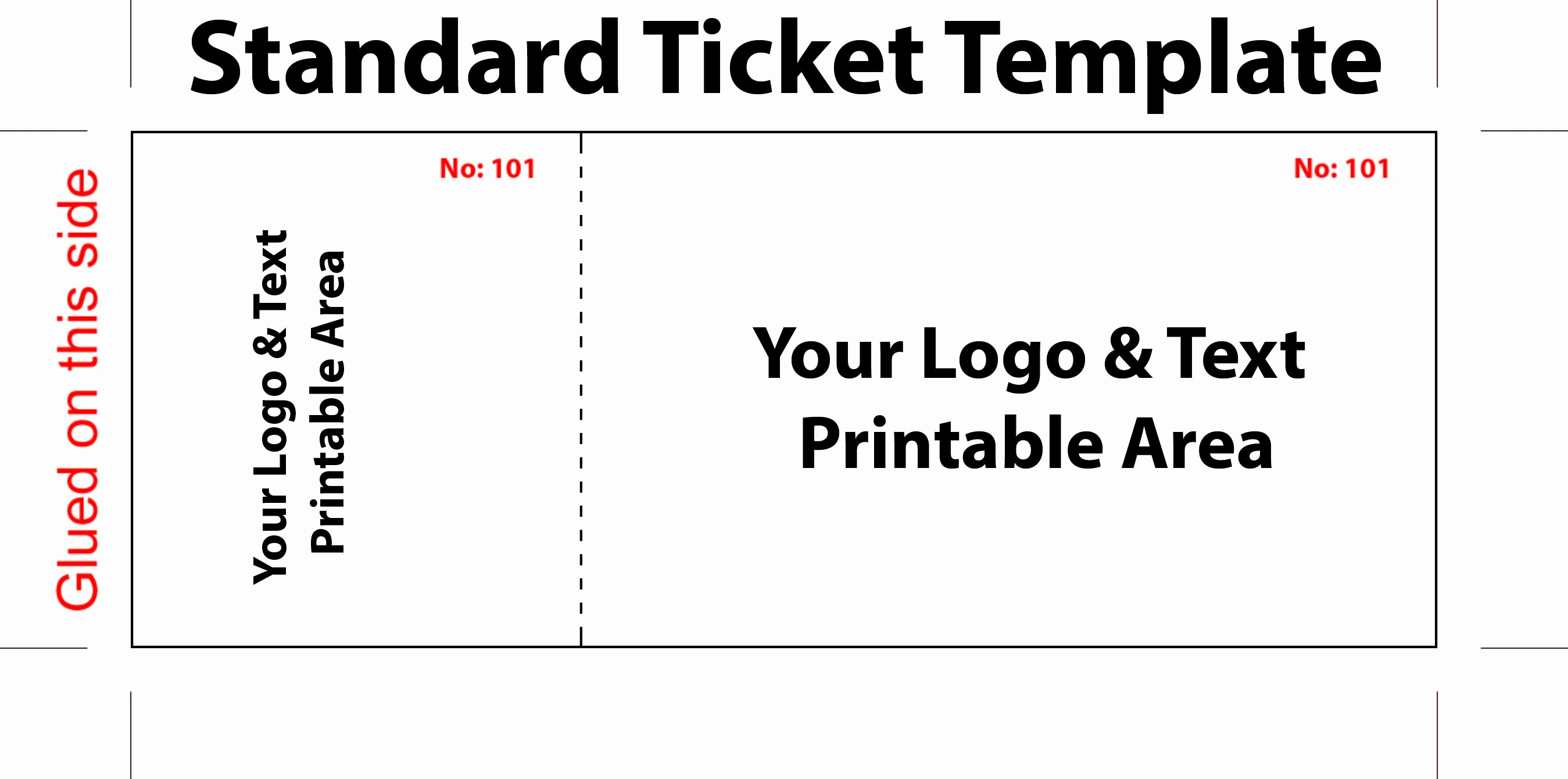 Event Ticket Template Word New Free Editable Standard Ticket Template Example for Concert