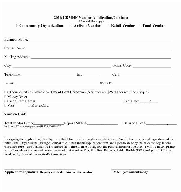 Event Vendor Application Template Awesome 10 Vendor Application Templates – Free Sample Example