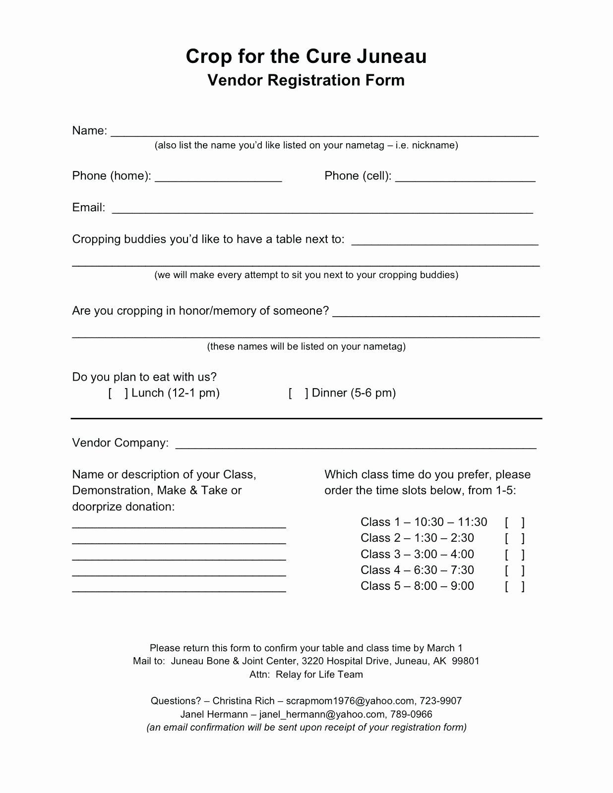 Event Vendor Application Template Elegant Sample Conference Registration form Template