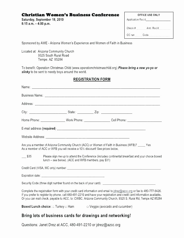 Event Vendor Application Template Fresh event Registration form Template Word Alluring Templates