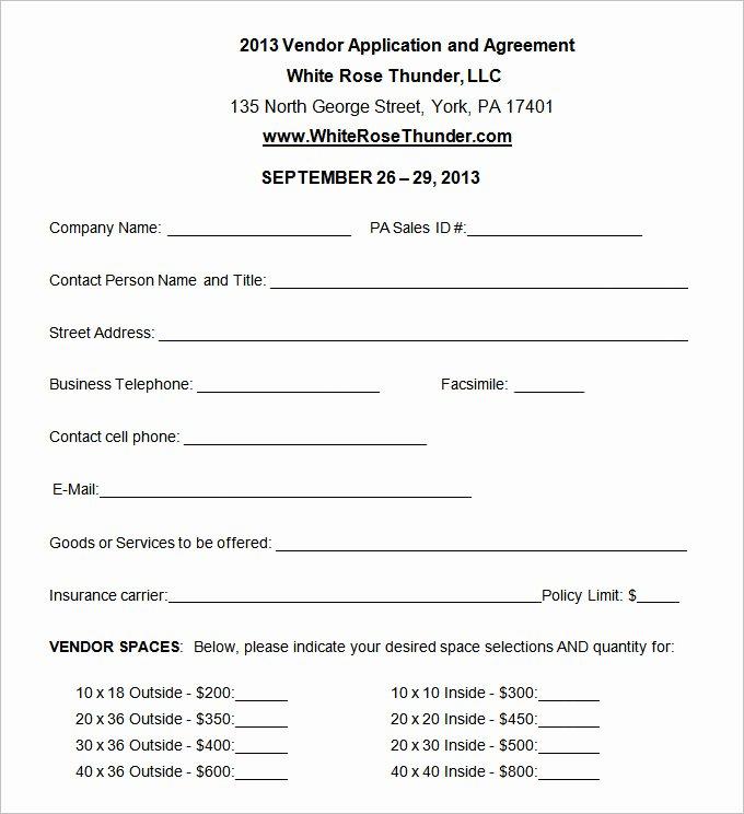 Event Vendor Application Template Luxury Vendor Application Template – 12 Free Word Pdf Documents