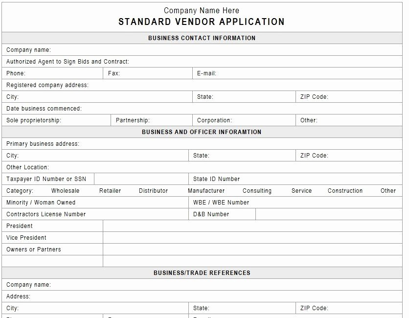 Event Vendor Application Template Luxury Vendor Application Template Vendors