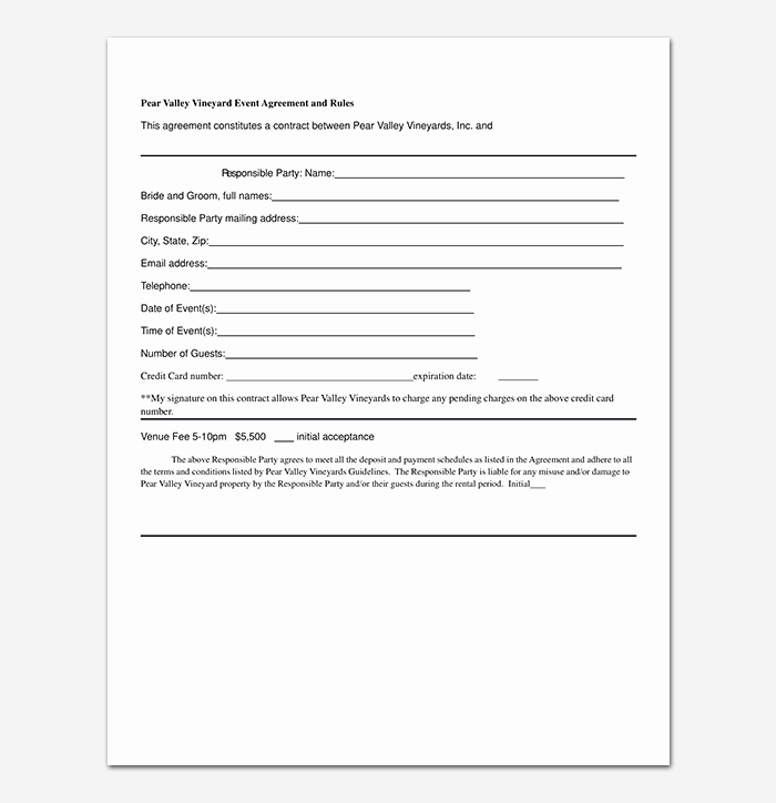 Event Venue Contract Template Lovely event Contract Template 19 Samples Examples In Word