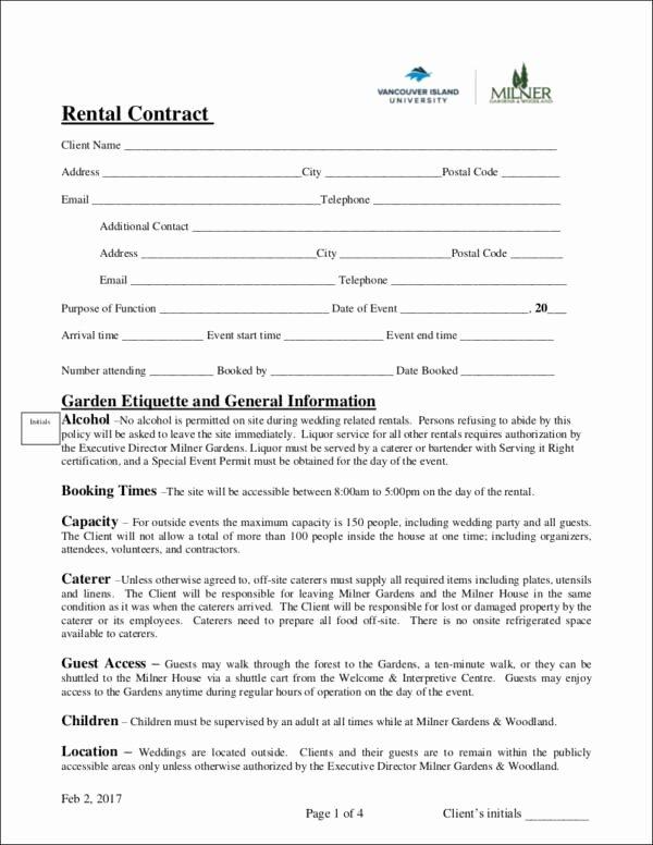 Event Venue Contract Template Unique 14 Wedding Contract Samples Word Pdf Google Docs