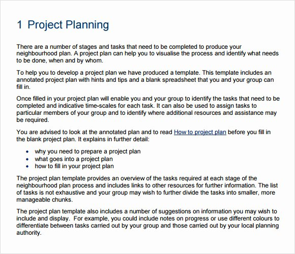 Example Of Project Plan Template Awesome 10 Project Planning Templates – Free Samples Examples