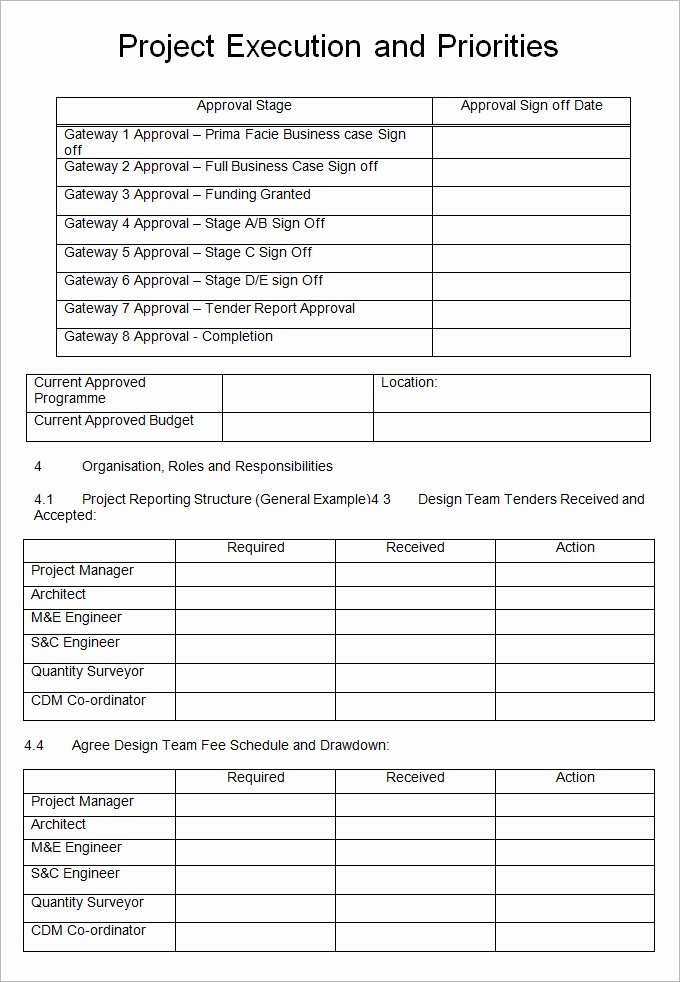 Example Of Project Plan Template Inspirational 8 Project Execution Plan Template Doc Pdf Excel