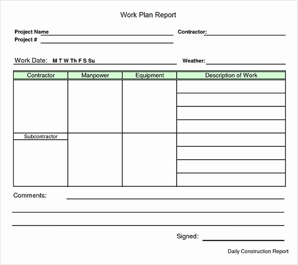 Example Of Project Plan Template Inspirational Work Plan Template 17 Download Free Documents for Word