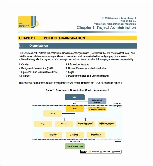 Example Of Project Plan Template Unique 16 Project Management Plan Templates Free Sample