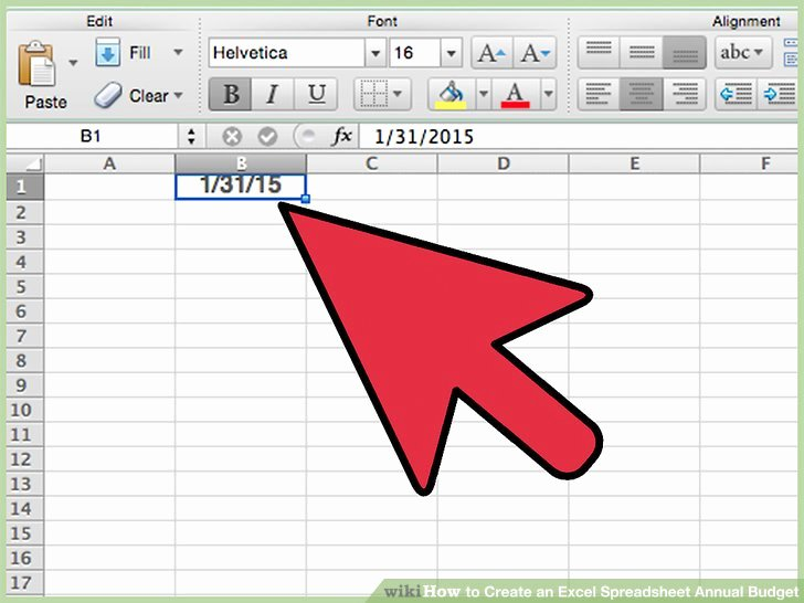 Excel Annual Budget Template Awesome How to Create An Excel Spreadsheet Annual Bud 15 Steps
