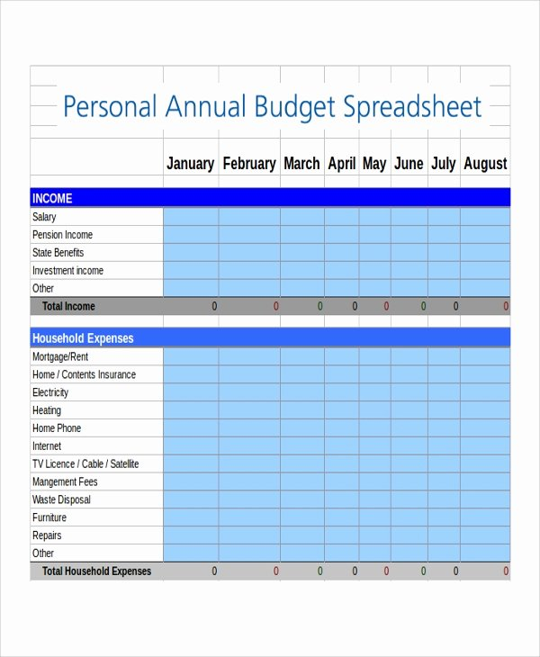Excel Annual Budget Template Beautiful 8 Bud Spreadsheet Excel Samples