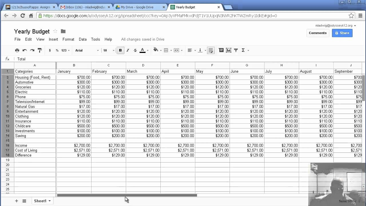 Excel Annual Budget Template Beautiful Making A Yearly Bud with Google Spreadsheet