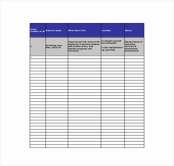 Excel asset Tracking Template Best Of 8 asset Tracking Templates – Free Sample Example format