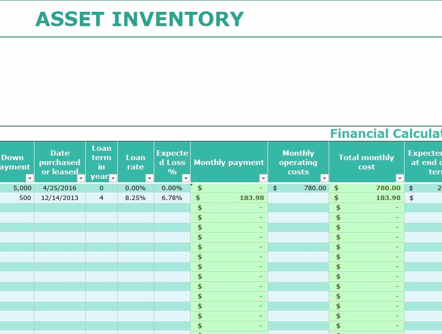 Excel asset Tracking Template Inspirational asset Inventory Template My Excel Templates