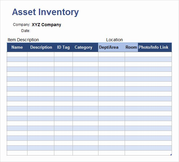 Excel asset Tracking Template New 6 Inventory Tracking Samples – Pdf Word