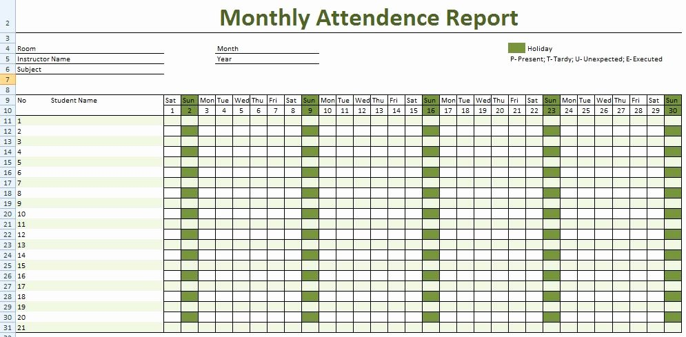 Excel attendance Tracker Template Awesome How to Keep Record Of Employee attendance – Microsoft