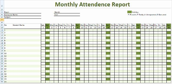Excel attendance Tracker Template Beautiful attendance Tracking Template 10 Free Word Excel Pdf